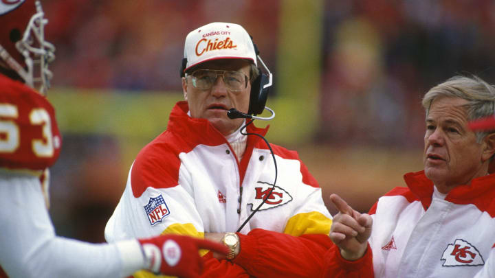 Marty Schottenheimer with the Chiefs.