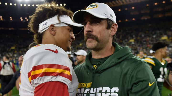Patrick Mahomes and Aaron Rodgers