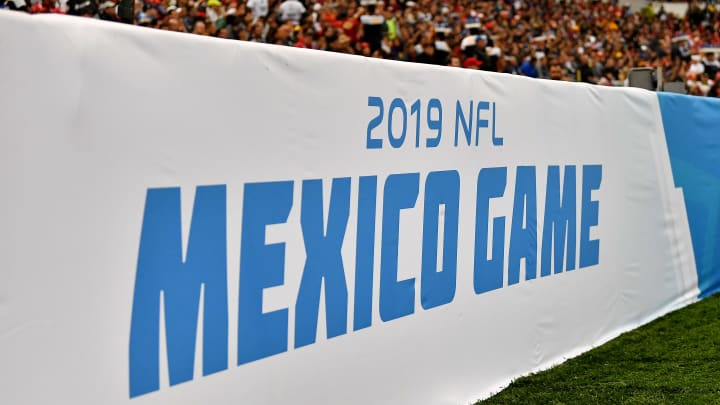 MEXICO CITY, MEXICO - NOVEMBER 18: A general view of NFL Mexico game signage displayed during an NFL football game between the Los Angeles Chargers and the Kansas City Chiefs on Monday, November 18, 2019, in Mexico City. The Chiefs defeated the Chargers 24-17. (Photo by Alika Jenner/Getty Images)