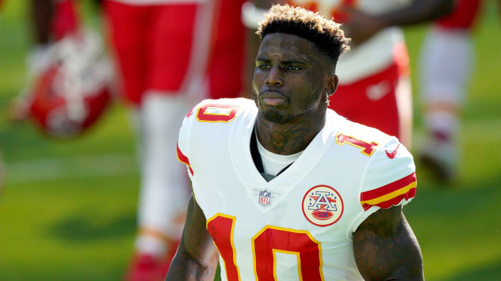 Tyreek Hill prop bets for Bills-Chiefs AFC Championship Game.