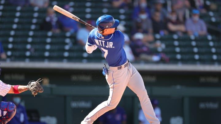 Bobby Witt, Jr. launches a tape-measure home run.