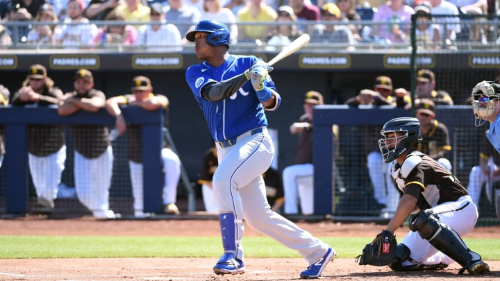 Kansas City Royals catcher Salvador Perez