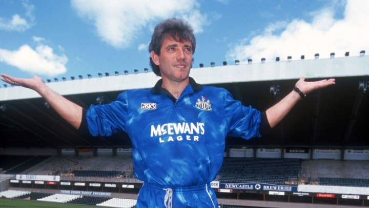 Kevin Keegan in Newcastle's 1993/95 away shirt