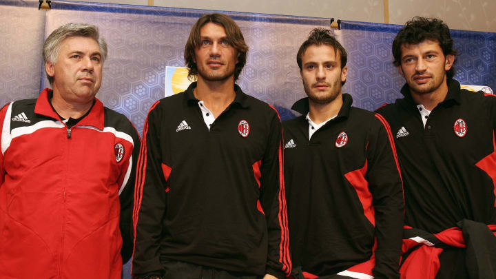 (L-R) Italian football club team AC Mila