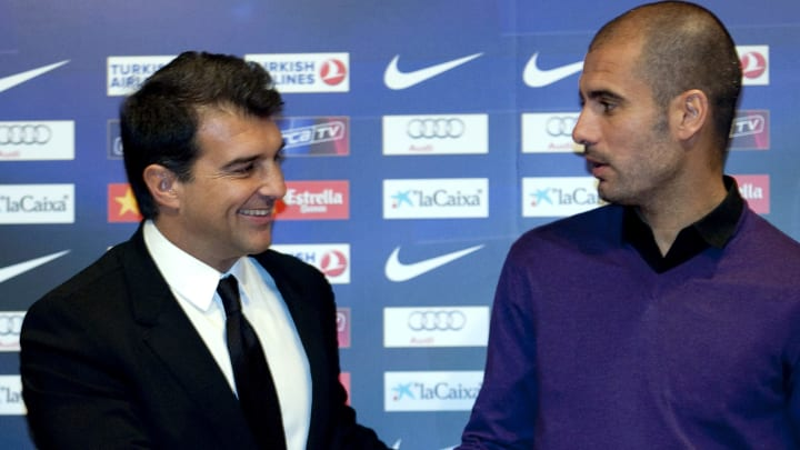 Joan Laporta was president of Barcelona between 2003-2010 and hired Pep Guardiola as boss