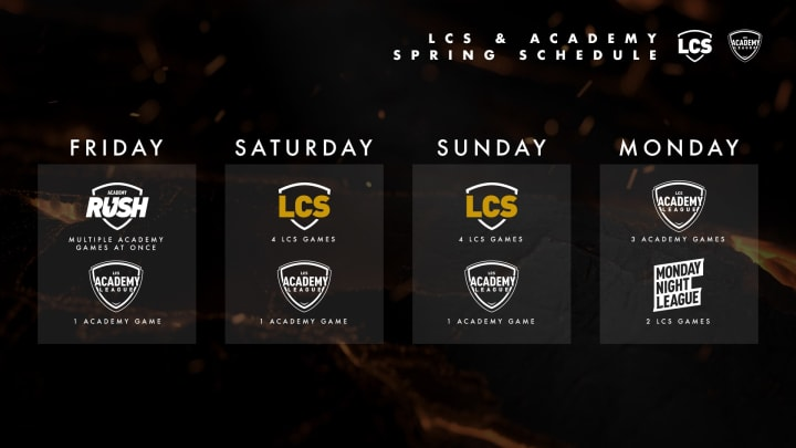 Riot Games revealed schedule changes coming to the LCS spring split