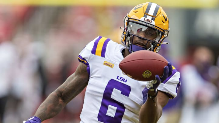 A look at the three most likely teams to draft LSU WR Terrace Marshall at the 2021 NFL Draft.