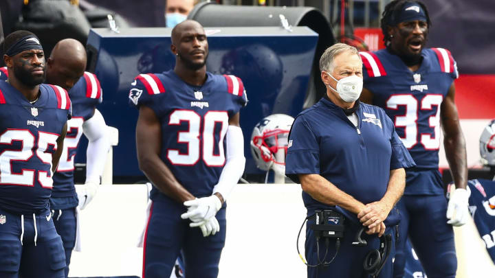Bill Belichick and his defensive backs