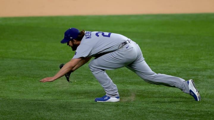 Clayton Kershaw, League Championship - Los Angeles Dodgers v Atlanta Braves - Game Four