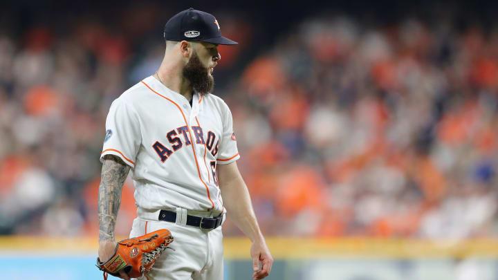Dallas Keuchel pitches for the Houston Astros