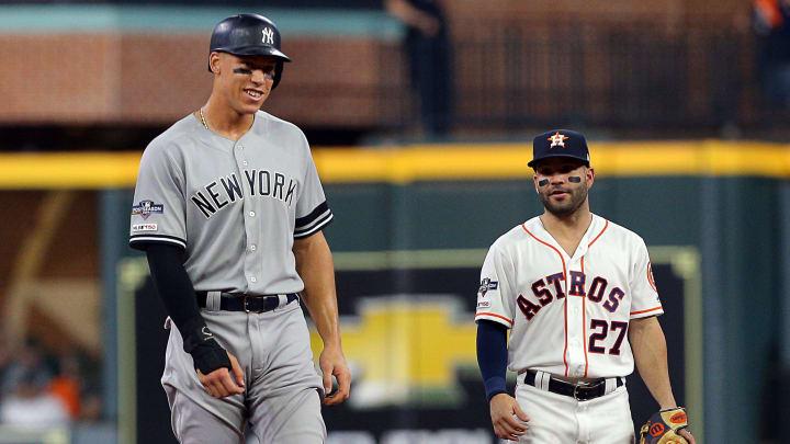 New York Yankees star Aaron Judge has interesting career splits when compared to Houston Astros star Jose Altuve.