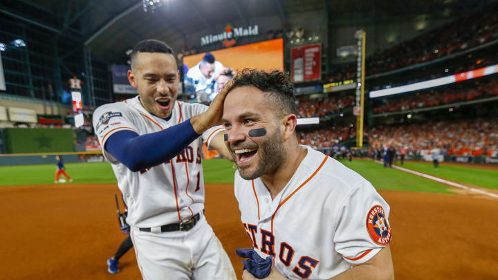 Carlos Correa and Jose Altuve during happier times.