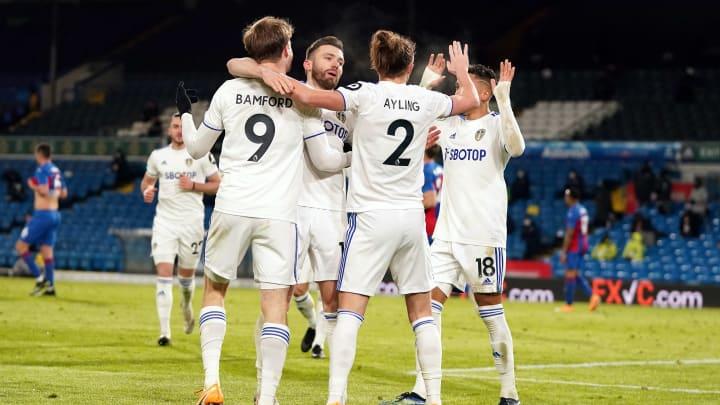 Leeds celebrate their second goal