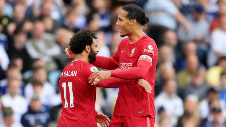 Mohamed Salah, Virgil van Dijk Liverpool  Champions League