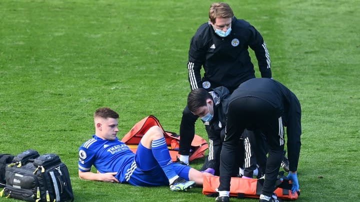 Barnes was stretchered off during his side's defeat to Arsenal