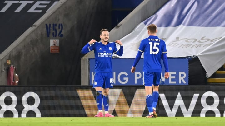 Maddison scored the second goal in Leicester's fine victory