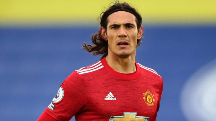 Cavani in action for Manchester United