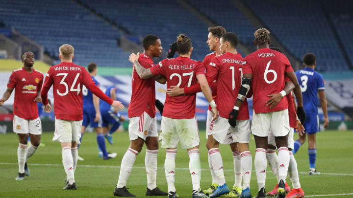 Mason Greenwood, Alex Telles, Nemanja Matic, Paul Pogba