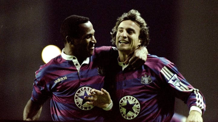 Les Ferdinand and David Ginola of Newcastle United