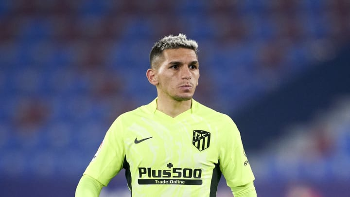 Lucas Torreira in action for Atletico Madrid this season