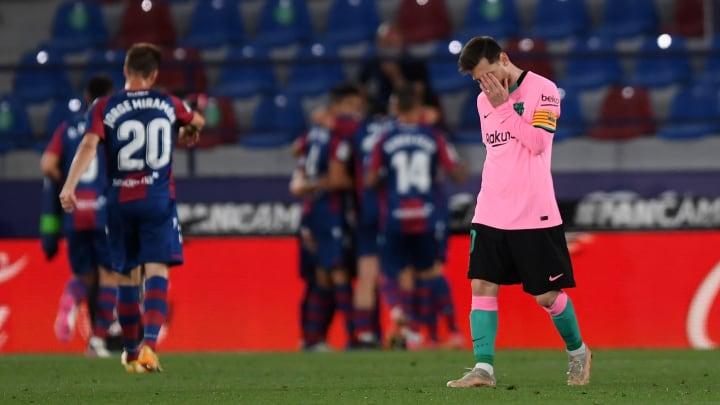Lionel Messi est les blaugrana peuvent nourrir des regrets.