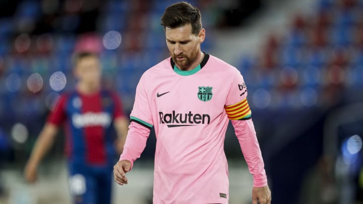 Barcelona cannot re-sign Lionel Messi yet