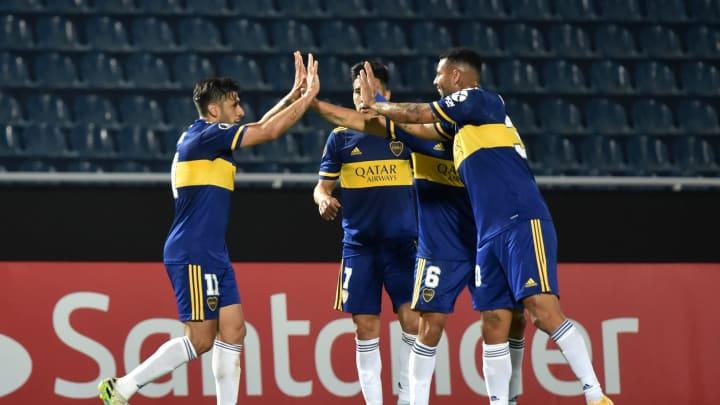 Boca le ganó a Libertad en Paraguay