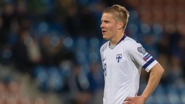 Jere Uronen lors des éliminatoires de l'Euro 2021.