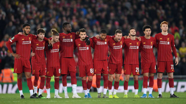 Joe Gomez, Neco Williams, Harvey Elliott, Divock Origi, Pedro Chirivella, Rhian Brewster, James Milner, Adam Lallana, Curtis Jones, Sepp Van Den Berg