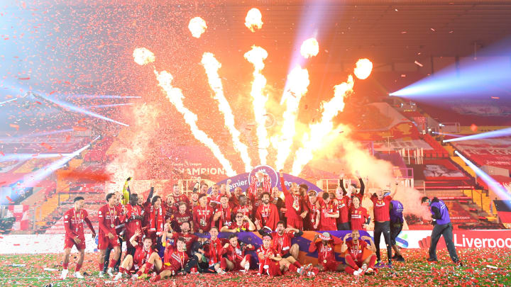 Liverpool finally lifted the Premier League trophy for the first time on Wednesday night