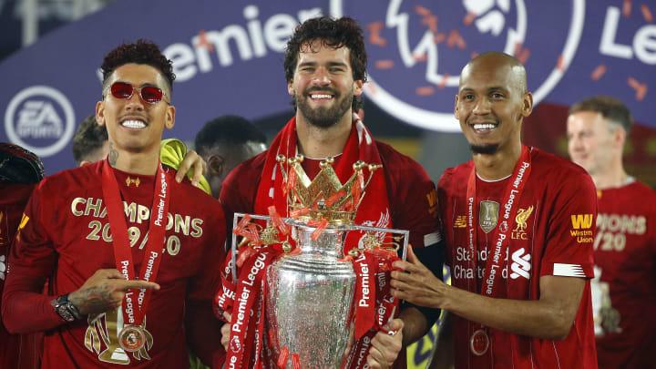 Könnten Liverpools Ligaspiel gegen Watford verpassen: Firmino, Alisson und Fabinho (v. l.)