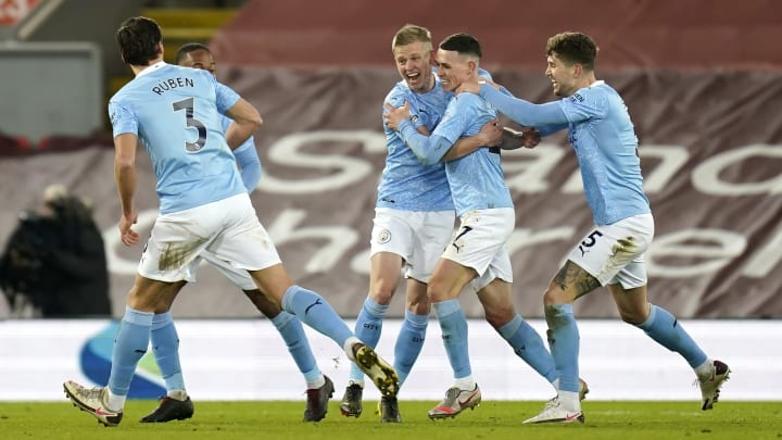 Man City take control of title race with win at Liverpool