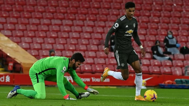 Marcus Rashford, Alisson Becker