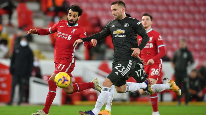 Luke Shaw a parfaitement maitrisé les offensives de Mohamed Salah