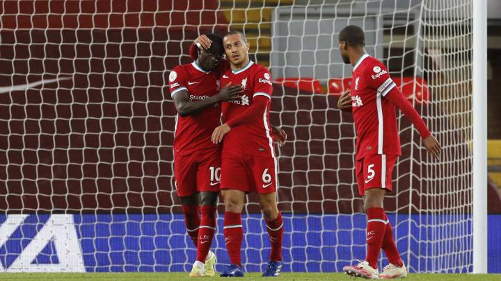 Thiago got his first Liverpool goal against Southampton