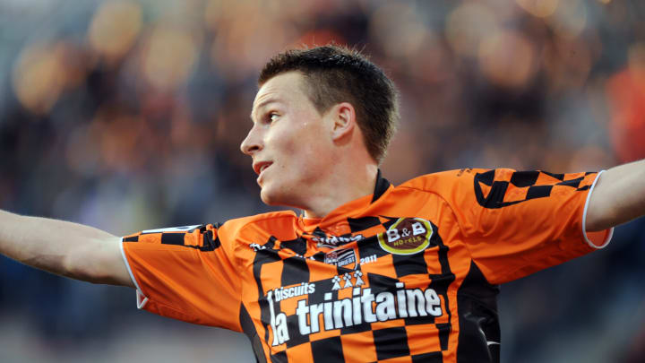 Lorient's French forward Kevin Gameiro j