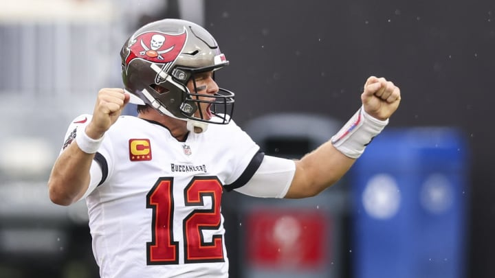 Tom Brady threw five touchdown passes.