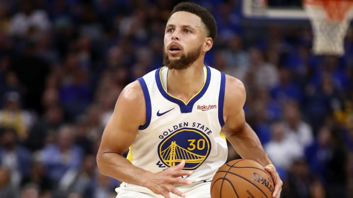 SAN FRANCISCO, CALIFORNIA - OCTOBER 24:   Stephen Curry #30 of the Golden State Warriors in action against the LA Clippers at Chase Center on October 24, 2019 in San Francisco, California.  NOTE TO USER: User expressly acknowledges and agrees that, by downloading and or using this photograph, User is consenting to the terms and conditions of the Getty Images License Agreement. (Photo by Ezra Shaw/Getty Images)