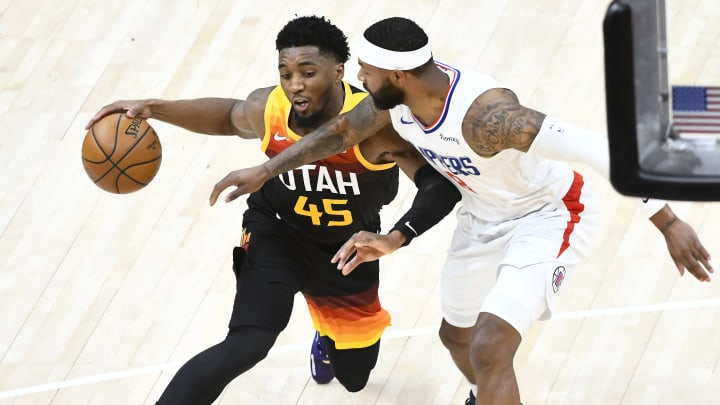 Donovan Mitchell dropped 45 points in Game 1 against the Clippers.