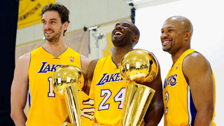 Kobe Bryant, Pau Gasol, Derek Fisher