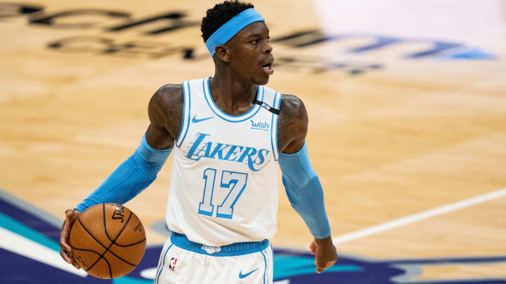 Dennis Schroder projections have him outscoring Kyle Kuzma against the Jazz on Monday.