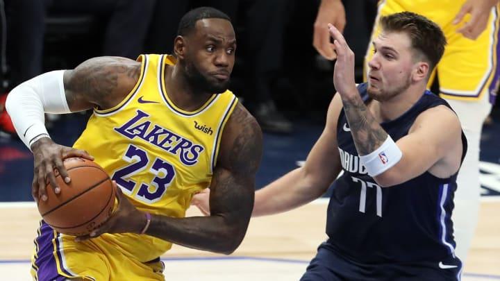 LeBron James y Luka Doncic tendrán un duelo estelar el 25 de diciembre de 2020