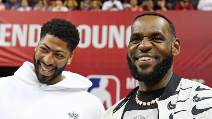 LeBron James and Anthony Davis