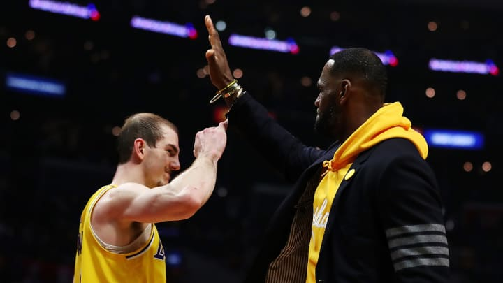 Alex Caruso, LeBron James
