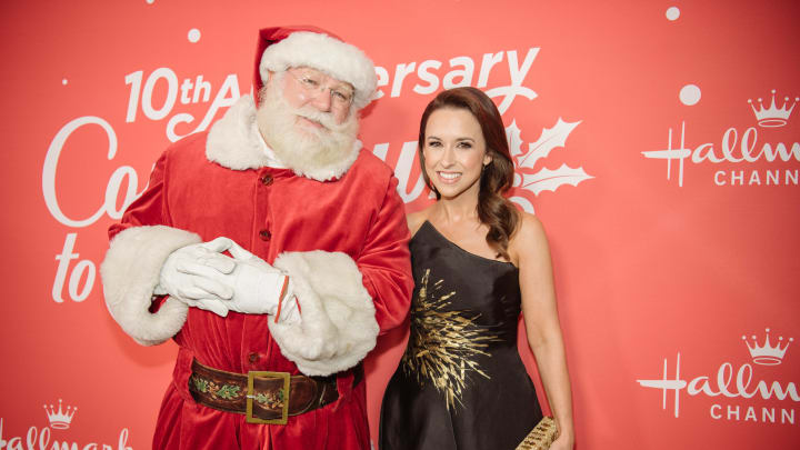 Lacey Chabert and Santa Claus