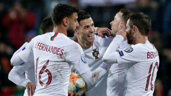 Bernardo Silva, Bruno Fernandes, Cristiano Ronaldo, Diogo Jota
