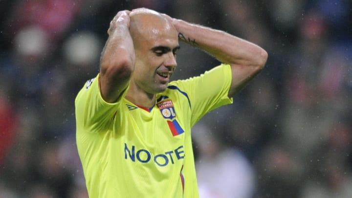 Lyon's Brazilian defender Cris reacts af