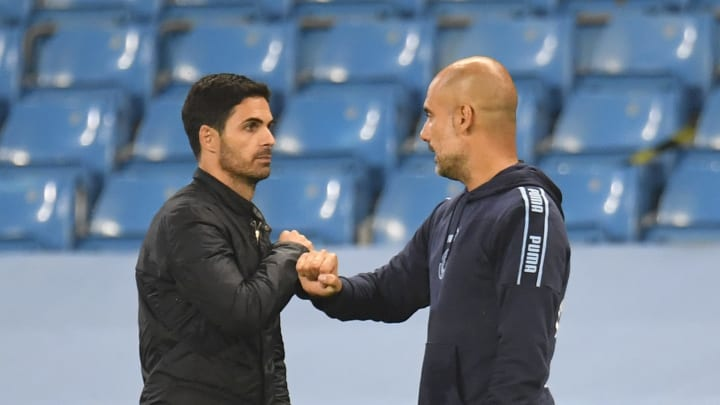 Mikel Arteta and Pep Guardiola recently met in Arsenal's win over Manchester City