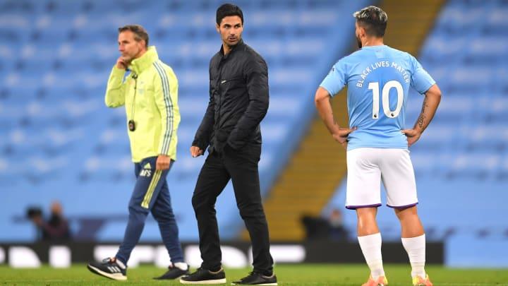 Sergio Aguero worked under Mikel Arteta at Manchester City