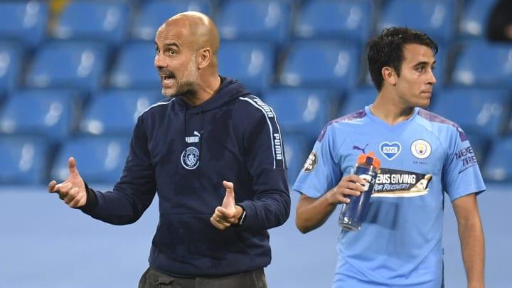 Pep Guardiola dan Eric Garcia
